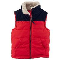 Boys 4-8 Carter's Ripstop Colorblock Puffer Vest