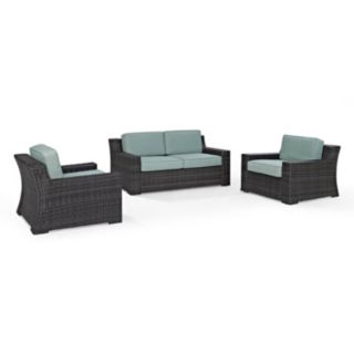 Crosley Furniture Beaufort Patio Loveseat & Arm Chair 3-piece Set