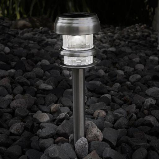 Navarro Outdoor Solar LED Path Light Garden Stake 4-piece Set