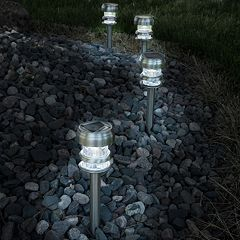 Navarro Outdoor Solar LED Path Light Garden Stake 4-piece Set