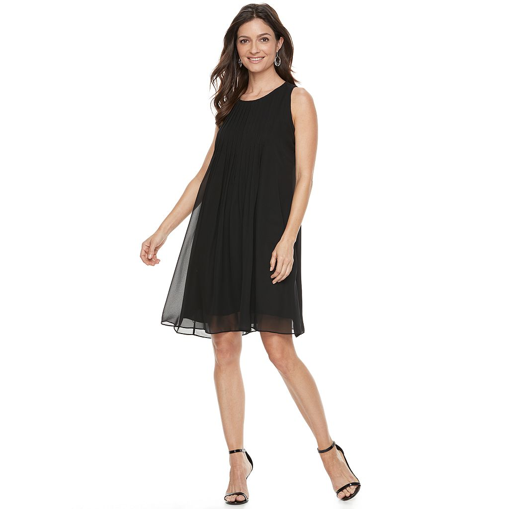 Women's Hope & Harlow Sleeveless Pleated Chiffon Dress