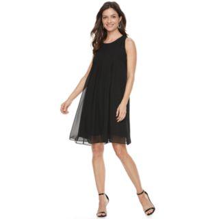 Women's Hope & Harlow Sleeveless Pleated Chiffon Dress
