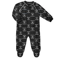 Baby Oakland Raiders Fleece Footed Pajamas