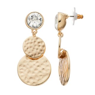 Dana Buchman Hammered Disc Nickel Free Double Drop Earrings