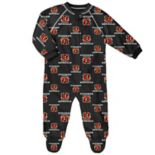 Baby Cincinnati Bengals Fleece Footed Pajamas
