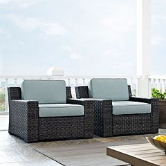 Crosley Furniture Beaufort Patio Arm Chair 2 pc Set