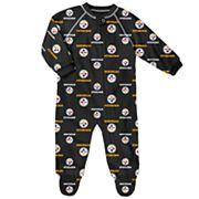 Baby Pittsburgh Steelers Fleece Footed Pajamas