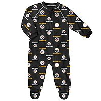 Baby Pittsburgh Steelers Fleece Footed Pajamas