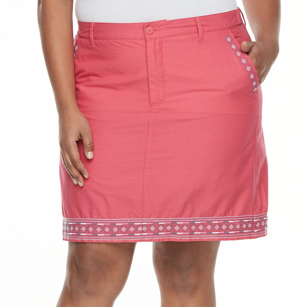 Plus Size Croft & Barrow® Novelty Skort