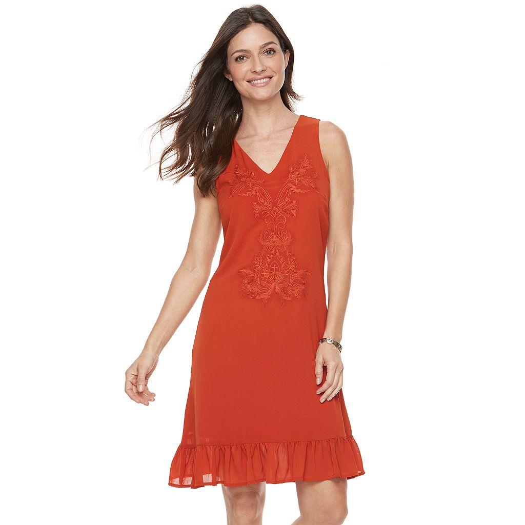 Women's Sharagano Sleeveless Chiffon Dress