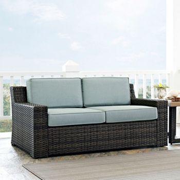 crosley furniture beaufort patio loveseat - Patio Loveseat