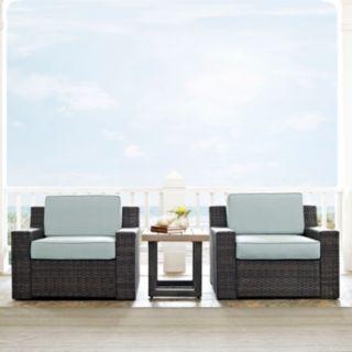 Crosley Furniture Beaufort Patio Arm Chair & End Table 3-piece Set