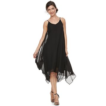 Women's Sharagano Slip Chiffon Dress