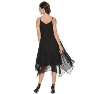 Women's Sharagano Slip Chiffon Dress