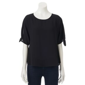 Juniors' Live To Be Spoiled Tie-Sleeve Top