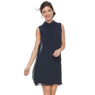 Women's Sharagano Sleeveless Mock Neck Dress