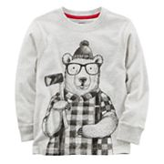 Boys 4-8 Carter's Winter Bear Long Sleeve Tee
