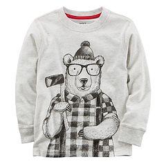 Boys 4-8 Carter's Winter Bear Long Sleeve Tee