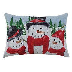 St. Nicholas Square® Snowmen Oblong Throw Pillow