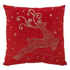 St. Nicholas Square® Fancy Reindeer Throw Pillow