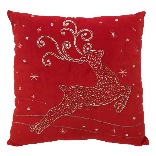 St. Nicholas Square® Fancy Reindeer Throw Pillow
