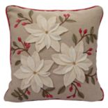 St. Nicholas Square® Poinsettia Throw Pillow