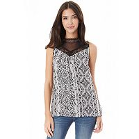 Juniors' IZ Byer Print Victorian Top