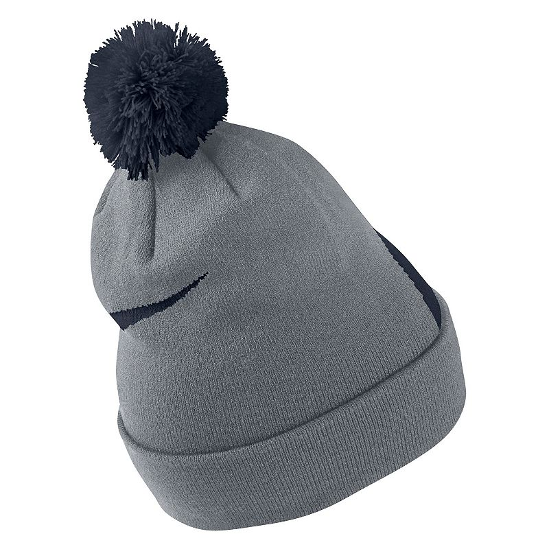 Men's Nike Beanie, Grey For the colder months, this men's Nike beanie will keep you toasty. Removable pom on top Fold-over cuff Fabric & Care Acrylic, nylon, spandex Machine wash Imported Size: Onesize. Color: Grey. Gender: Male. Age Group: Adult.