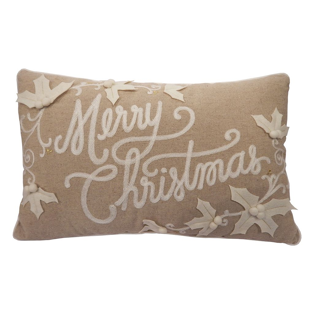 St. Nicholas Square® ''Merry Christmas'' Oblong Throw Pillow