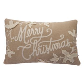 St. Nicholas Square® ''Merry Christmas'' Oblong Throw Pillow