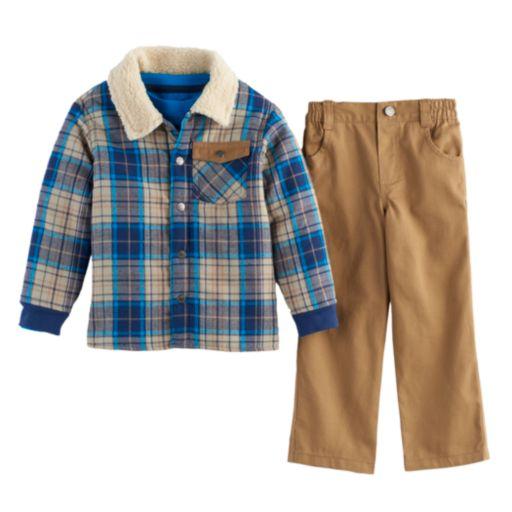 Baby Boy Nannette 3-pc. Plaid Jacket, Tee & Pants Set