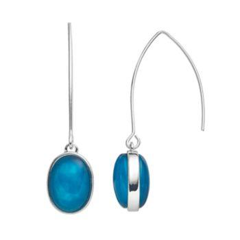 Dana Buchman Blue Oval Nickel Free Threader Earrings