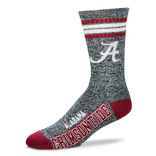 33541cc2b570 Adult For Bare Feet Alabama Crimson Tide Got Marbled Crew Socks