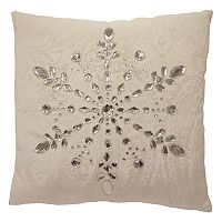 St. Nicholas Square® Faux Jewel Snowflake Throw Pillow