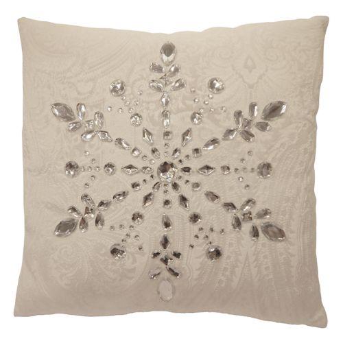 St. Nicholas Square® Faux Jewel Snowflake Throw Pillow