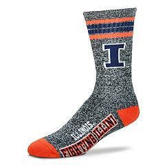 Adult For Bare Feet Illinois Fighting Illini Got Marbled Crew Socks