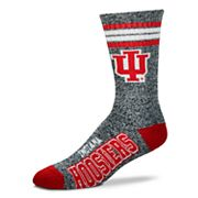 Adult For Bare Feet Indiana Hoosiers Got Marbled Crew Socks