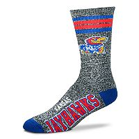Adult For Bare Feet Kansas Jayhawks Got Marbled Crew Socks