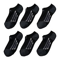 Boys 4-20 adidas 6-pack No-Show climalite Performance Socks