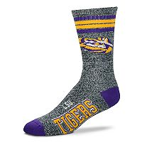 Adult For Bare Feet LSU Tigers Got Marbled Crew Socks