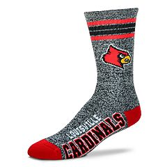 Adult For Bare Feet Louisville Cardinals Got Marbled Crew Socks