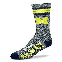 Adult For Bare Feet Michigan Wolverines Got Marbled Crew Socks