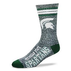 Adult For Bare Feet Michigan State Spartans Got Marbled Crew Socks