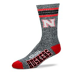 Adult For Bare Feet Nebraska Cornhuskers Got Marbled Crew Socks