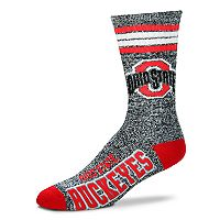 Adult For Bare Feet Ohio State Buckeyes Got Marbled Crew Socks