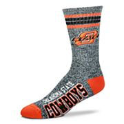 Adult For Bare Feet Oklahoma State Cowboys Got Marbled Crew Socks