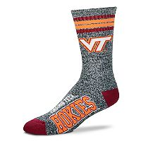 Adult For Bare Feet Virginia Tech Hokies Got Marbled Crew Socks