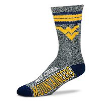 Adult For Bare Feet West Virginia Mountaineers Got Marbled Crew Socks