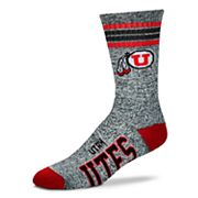 Adult For Bare Feet Utah Utes Got Marbled Crew Socks