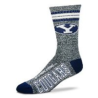 Adult For Bare Feet BYU Cougars Got Marbled Crew Socks